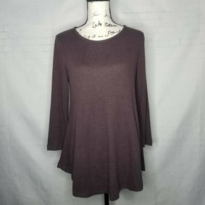 B Collection by Bobeau Tunic Sweater Size M Brown